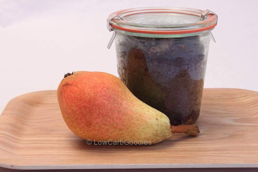 Schoko-Birnenkuchen im Glas