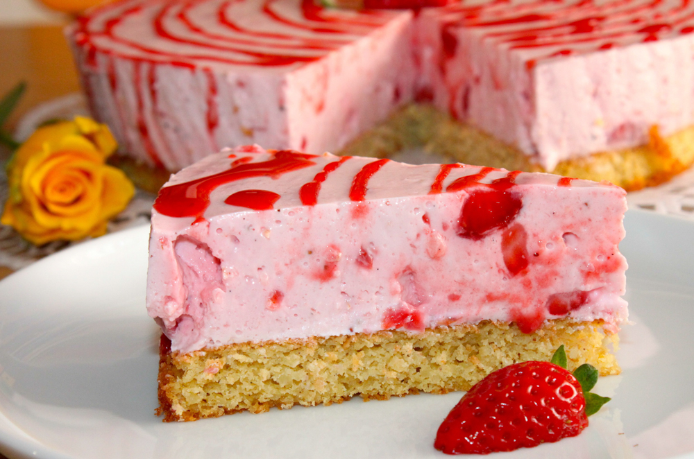 Claudias Erdbeer-Limetten-Torte