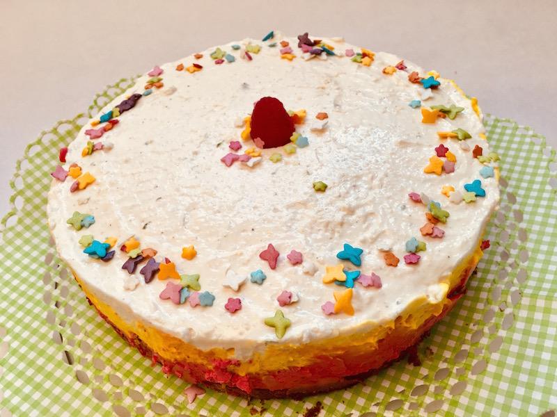 Bunte Joghurt Topfen Torte X Lowcarbgoodies